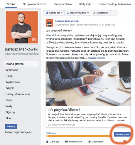 skuteczna reklama na facebooku