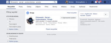 grupa tematyczna na facebooku