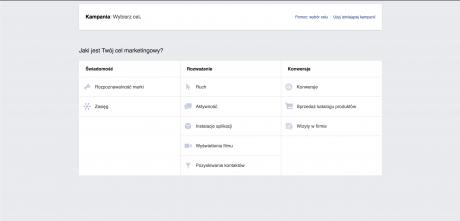 tworzenie kampanii reklamowej w oparciu o pixel facebooka